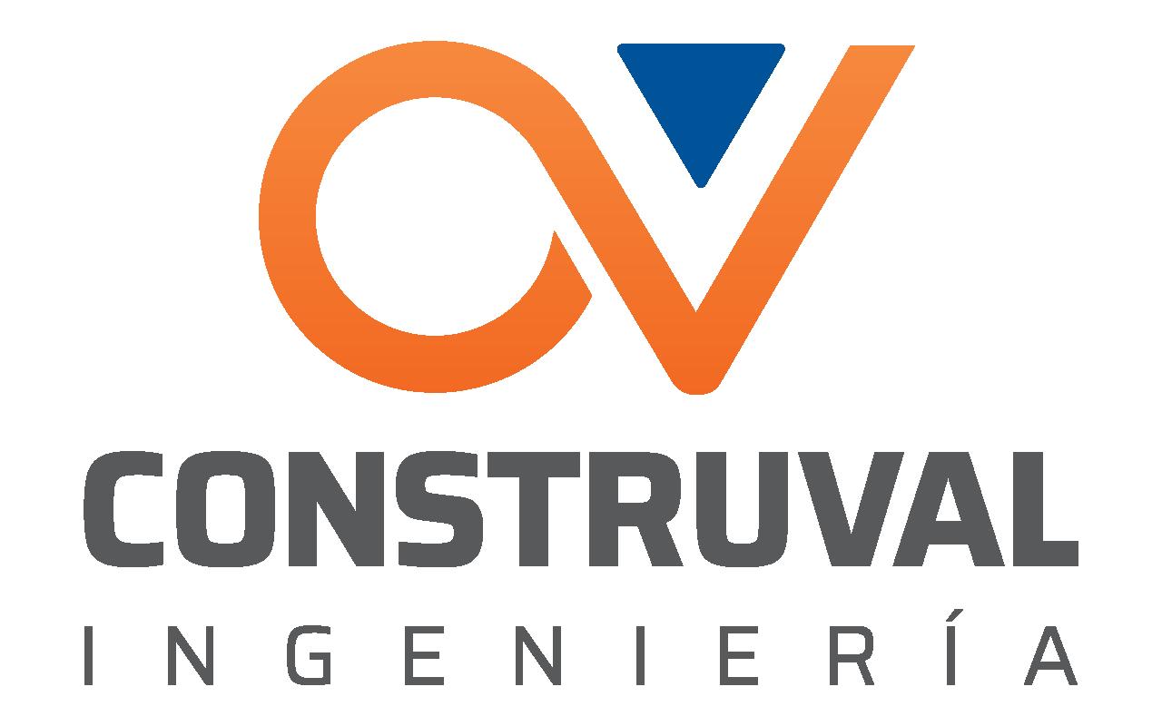 logotipo de construval en color